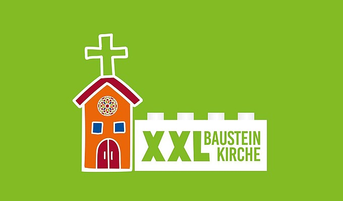 GJW-Bayern_XXL-Bausteinkirche_PosterAufsteller DinA1