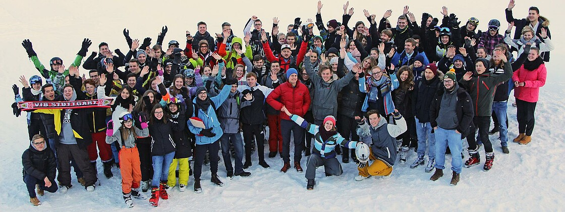 Skifreizeit Gruppenbild Snow & Fun