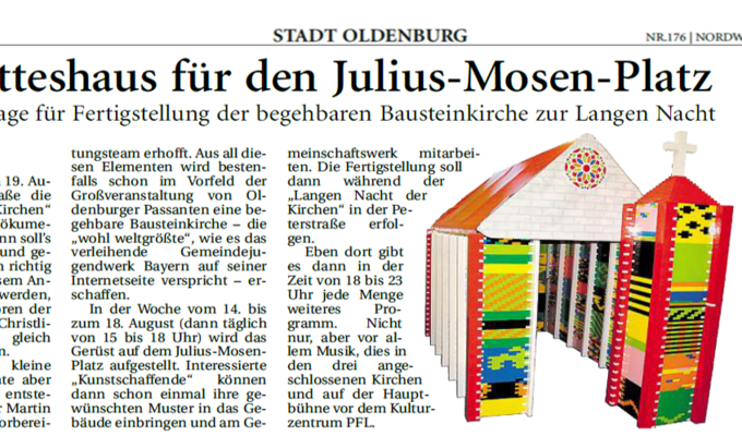 XXL Bausteinkirche Presseartikel